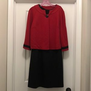 Dress w/ matching swing jacket 10